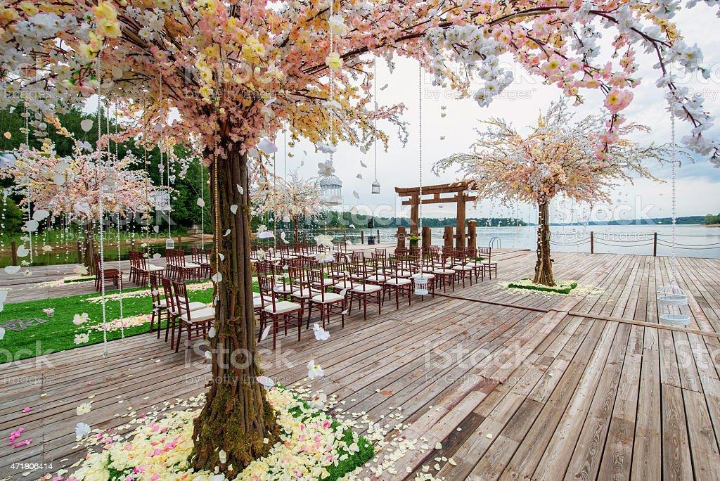 Wedding. Japanese style. stock photo