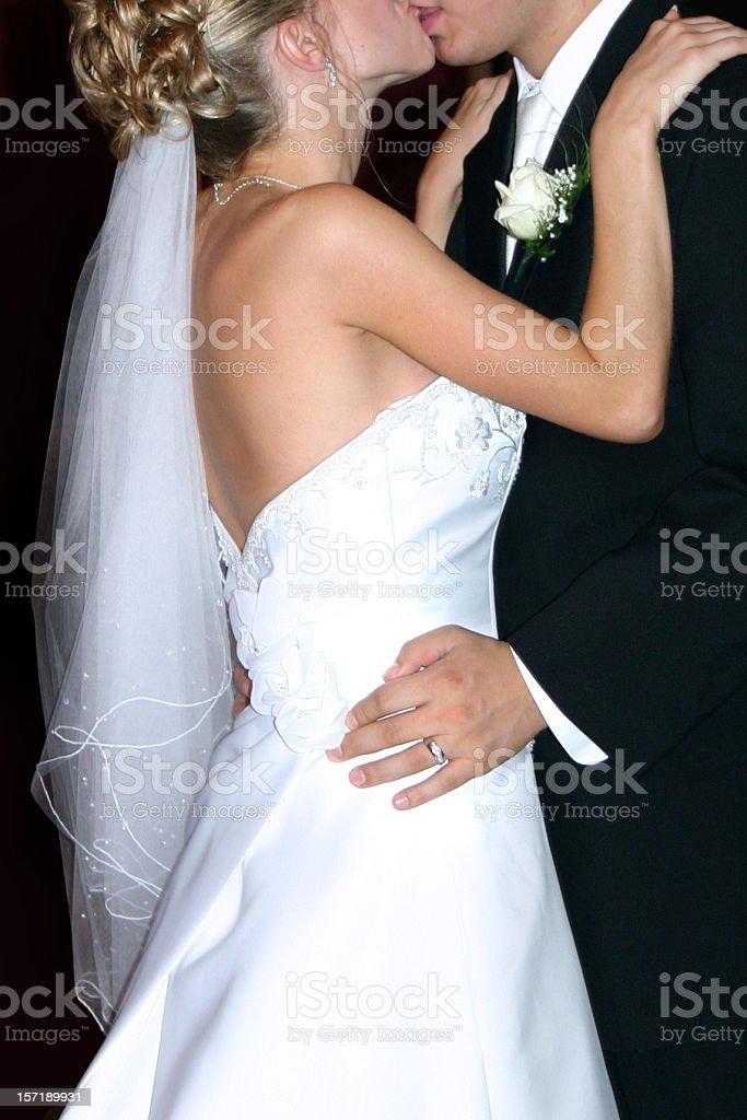 Wedding Kiss royalty-free stock photo
