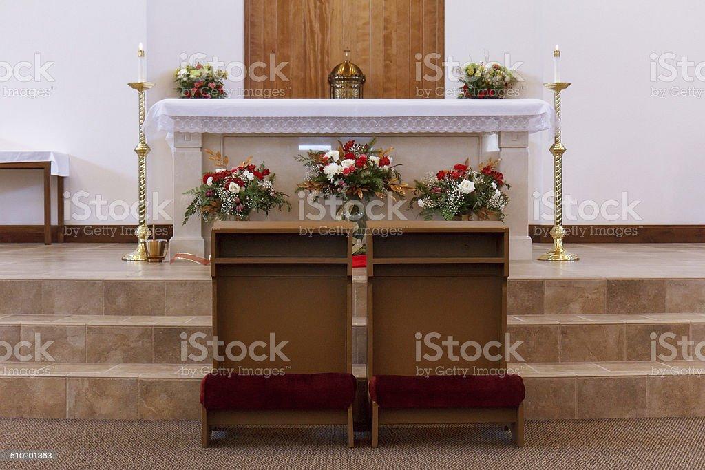 Wedding Kneelers stock photo