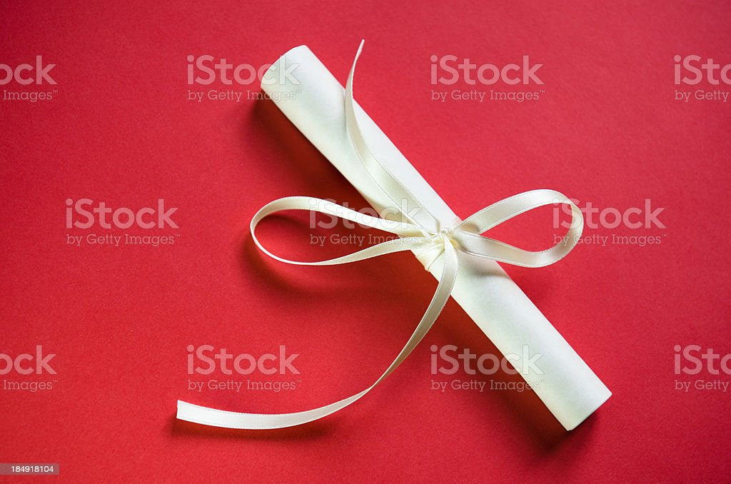 Wedding letter on red background royalty-free stock photo