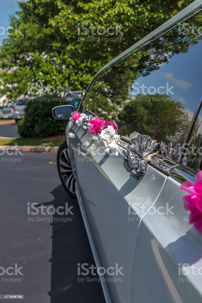 Wedding Limousine stock photo