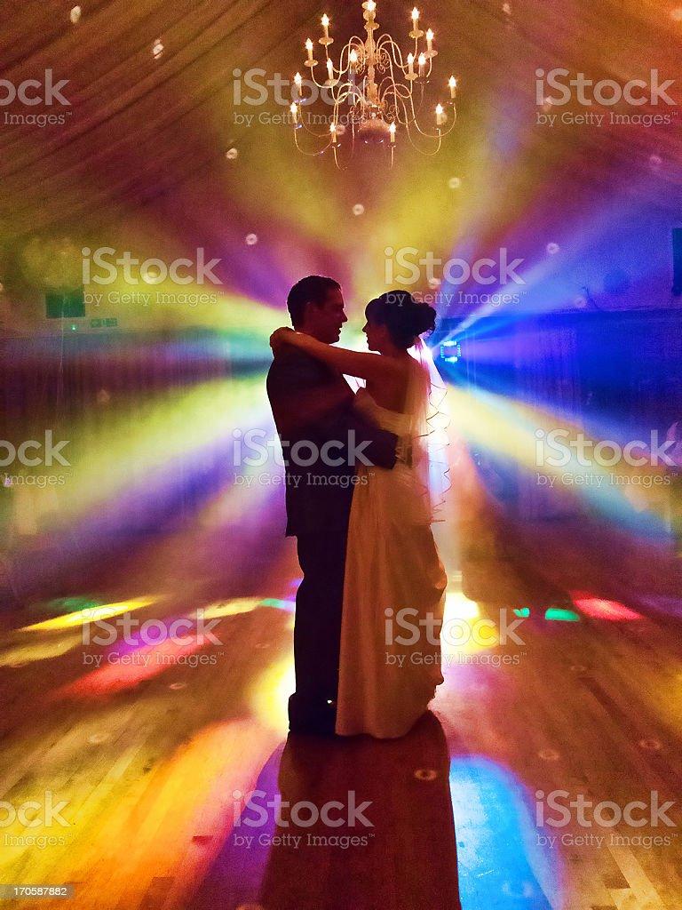 Wedding night first dance stock photo