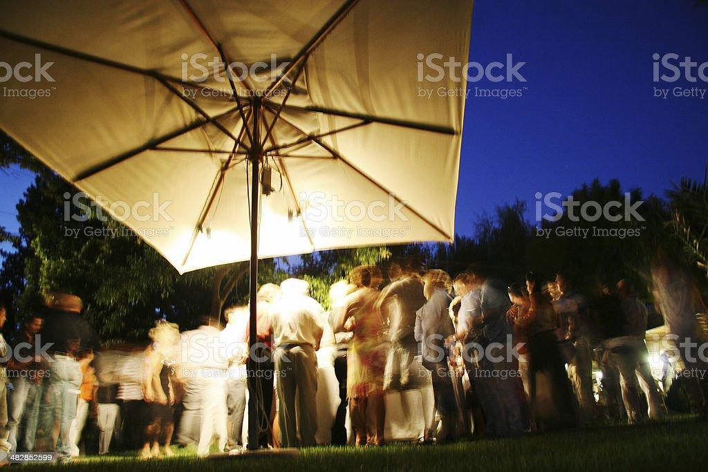 Wedding night party stock photo