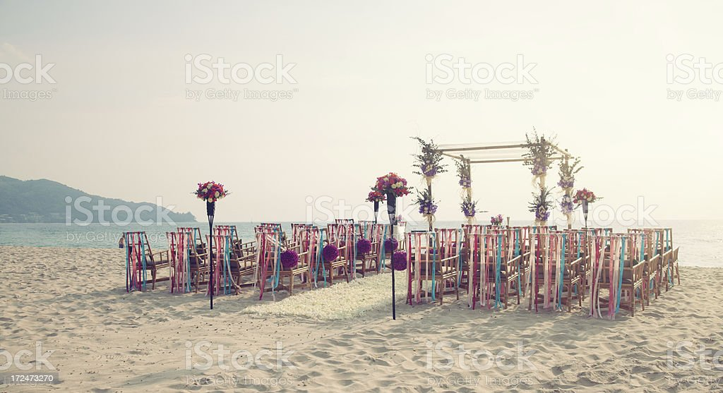 Wedding on the beach royalty-free stock photo