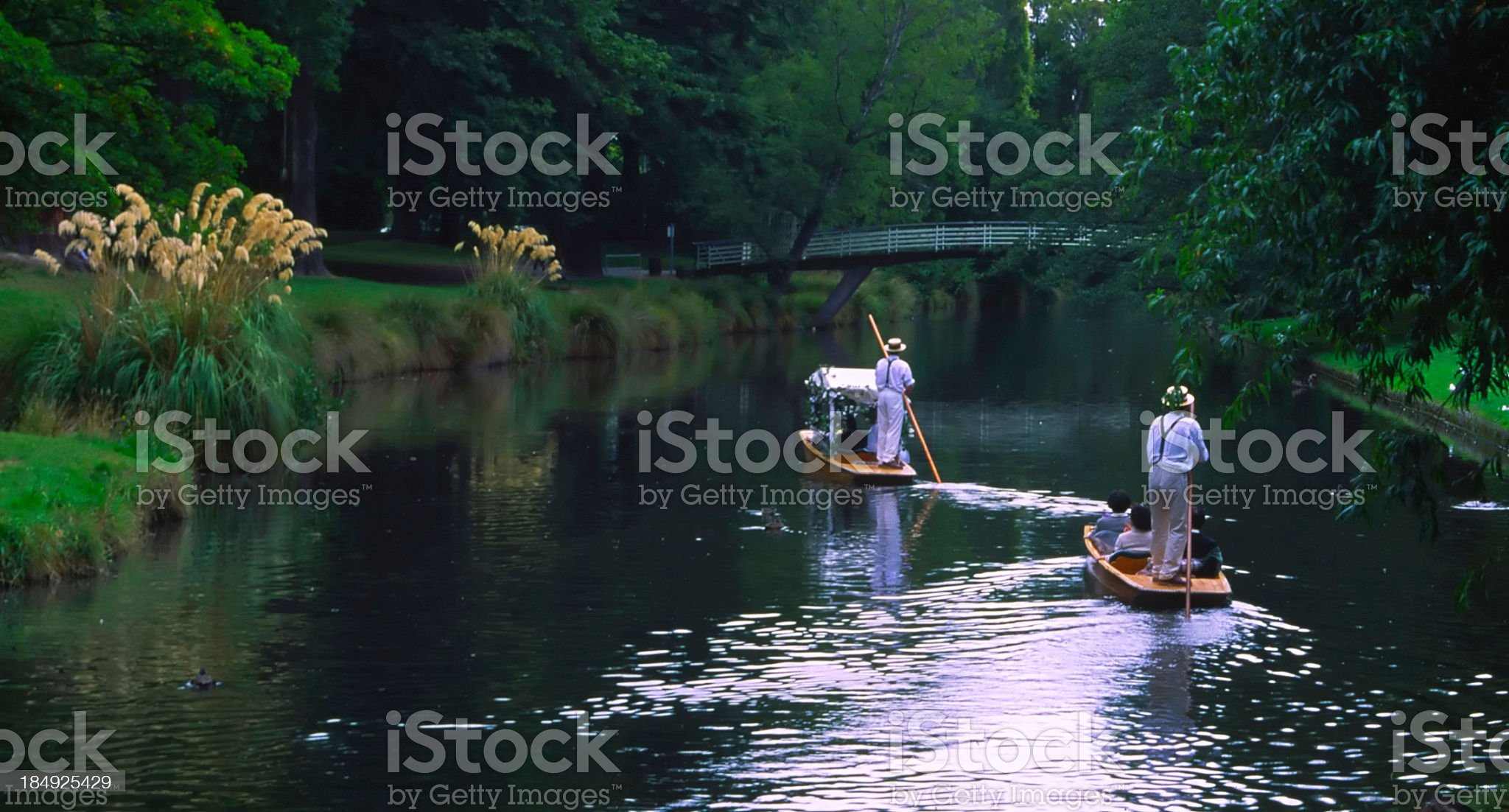 Wedding Party in boats 2 royalty-free stock photo