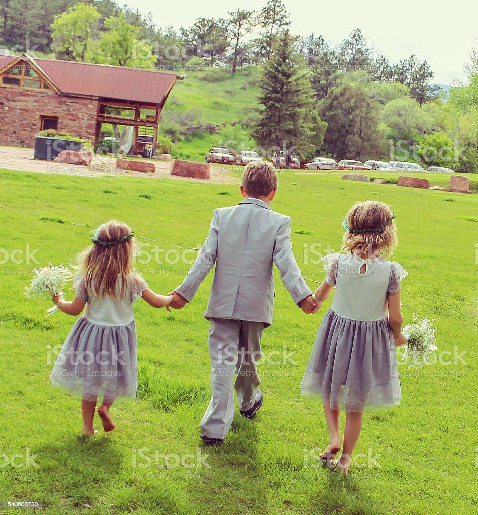 Wedding party stock photo