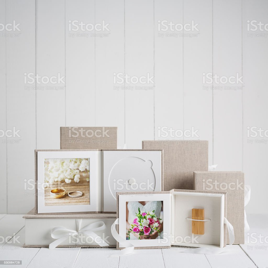 Wedding Photography Presentation Products stock photo