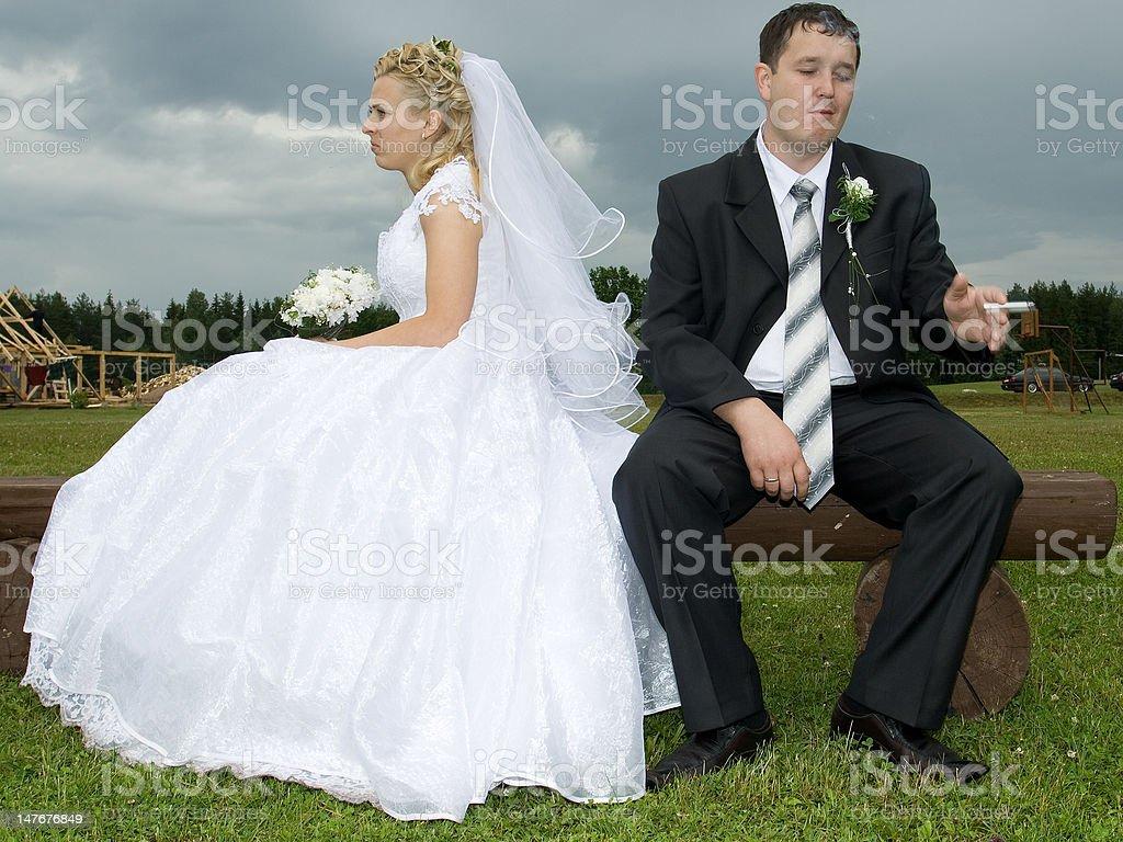 Un mariage photo libre de droits
