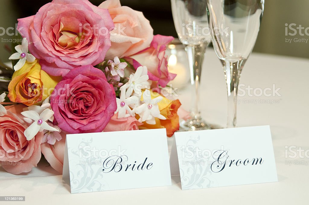 Wedding Place Cards royalty-free stock photo