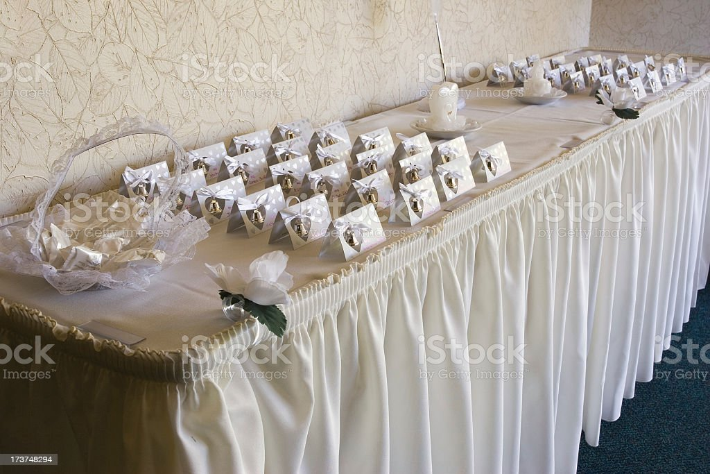 Wedding placecards stock photo