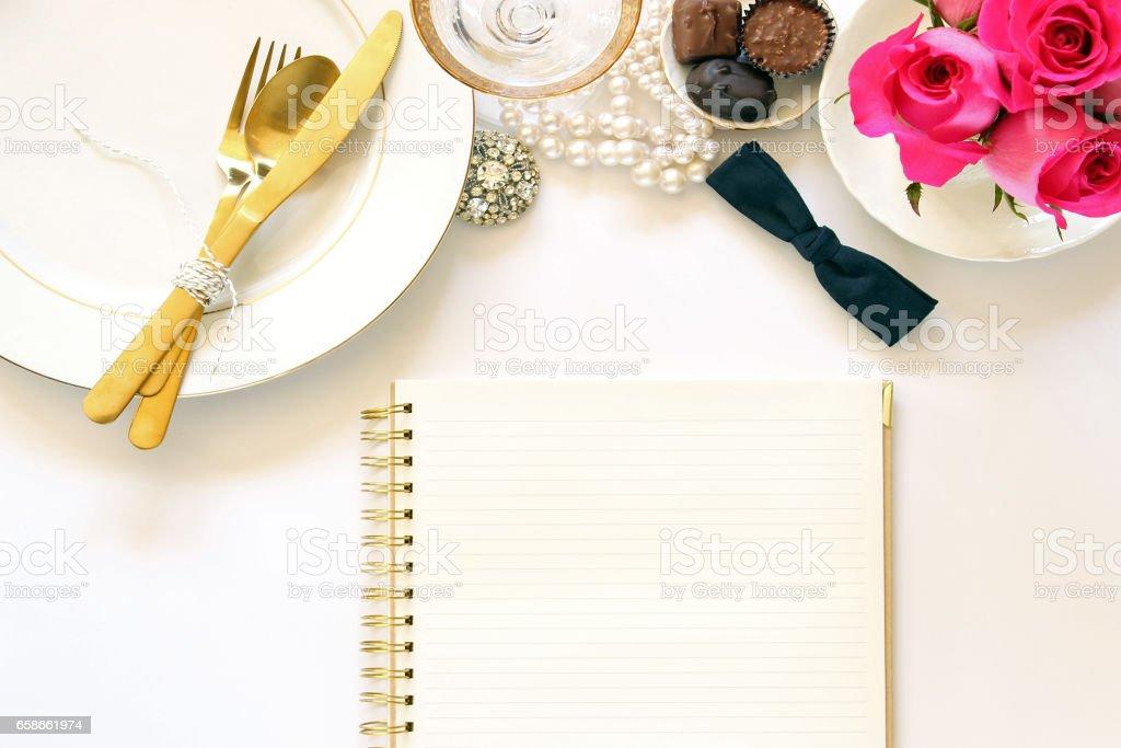 Wedding planning stock photo