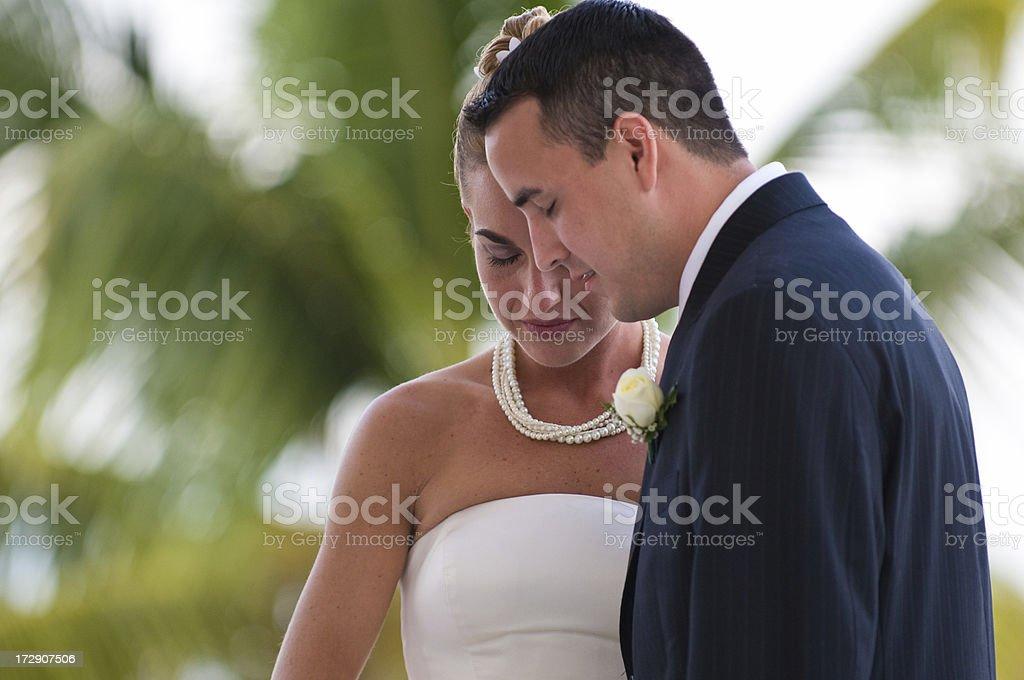 Wedding Prayer royalty-free stock photo