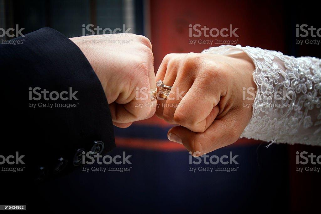 Wedding Punch Love stock photo