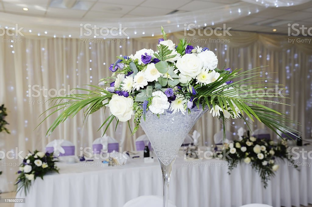 Wedding reception centrepiece stock photo