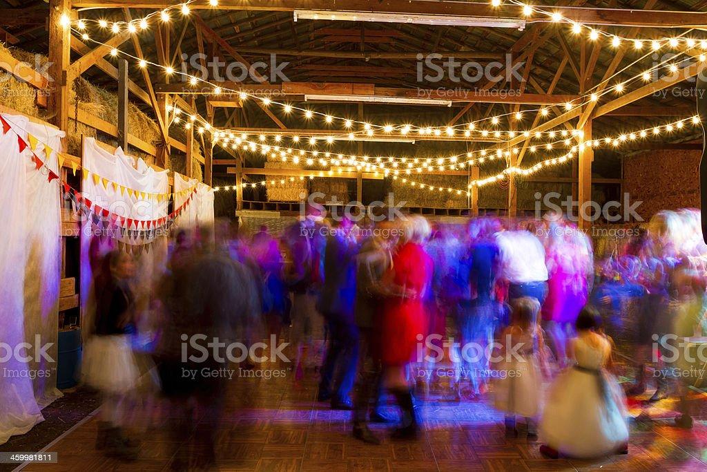 Wedding Reception Dance Floor stock photo