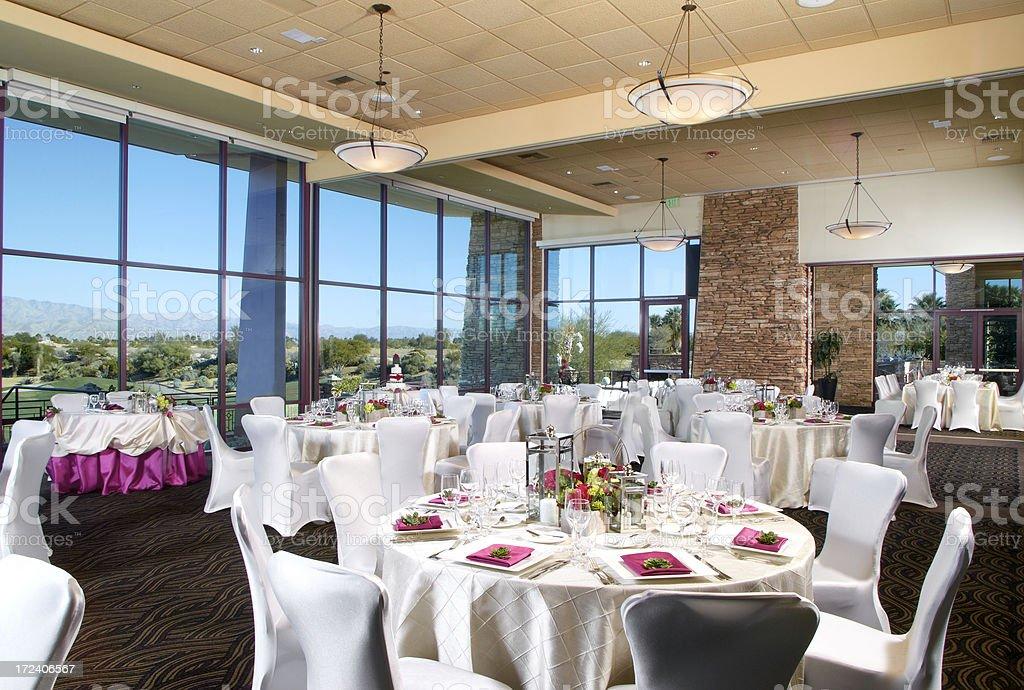 Wedding Reception Decorations royalty-free stock photo
