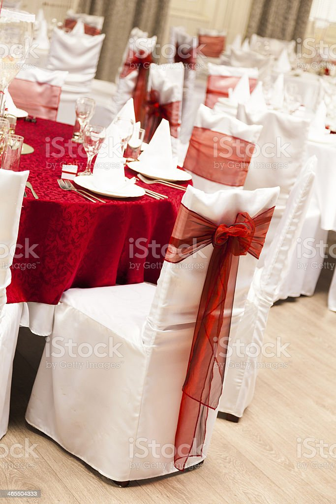 Wedding reception hall royalty-free stock photo
