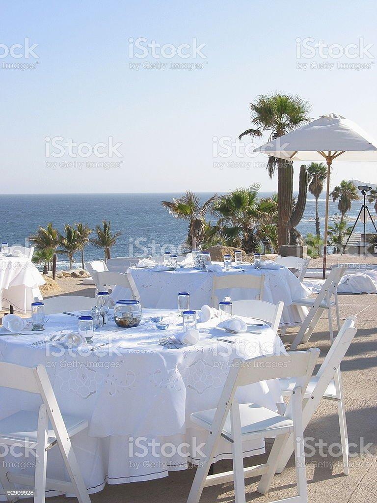 Wedding reception on the beach royalty-free stock photo