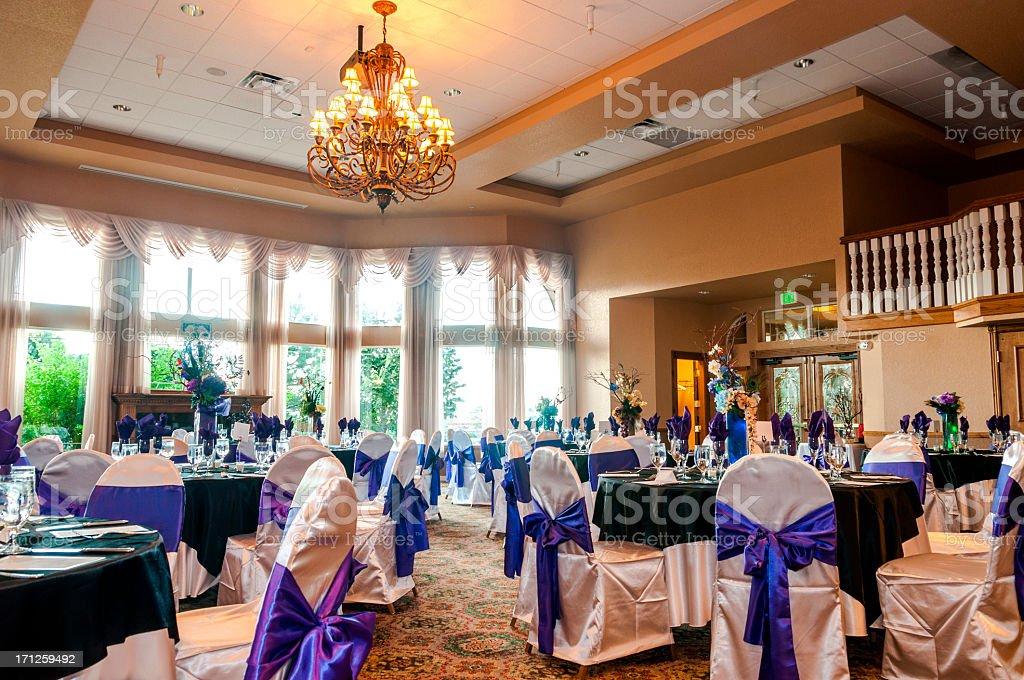 wedding reception stock photo
