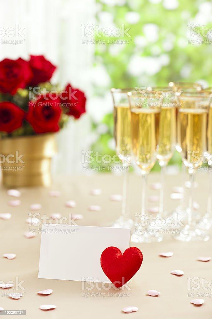 Wedding reception setting royalty-free stock photo
