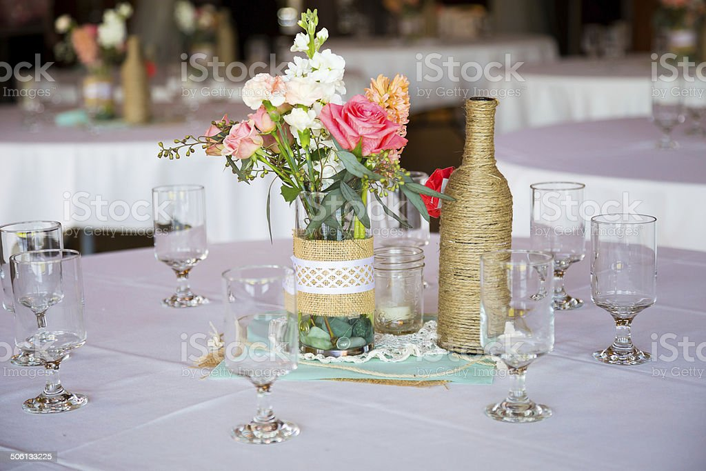 Wedding Reception Table Centerpieces stock photo
