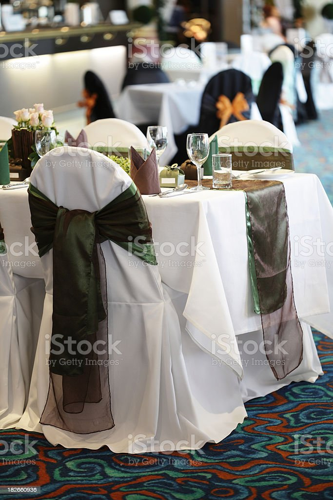 Wedding Reception Table royalty-free stock photo