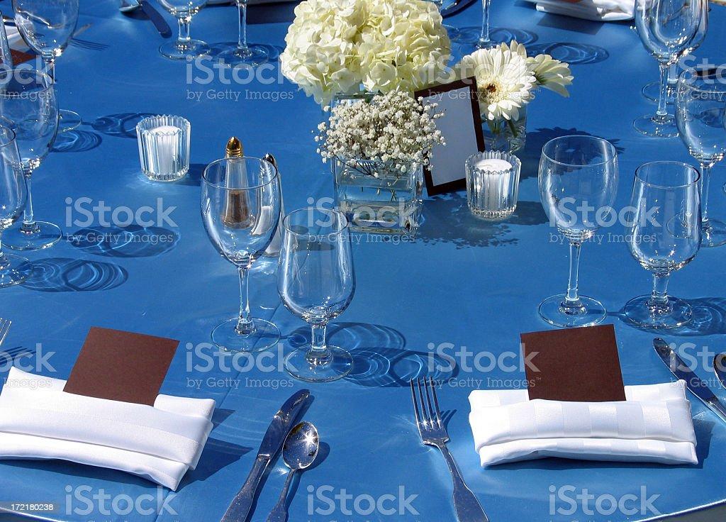 wedding reception table setting royalty-free stock photo