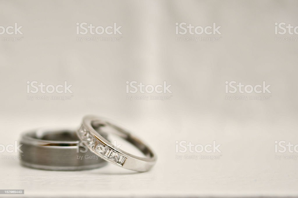 Wedding Ring and Band stock photo