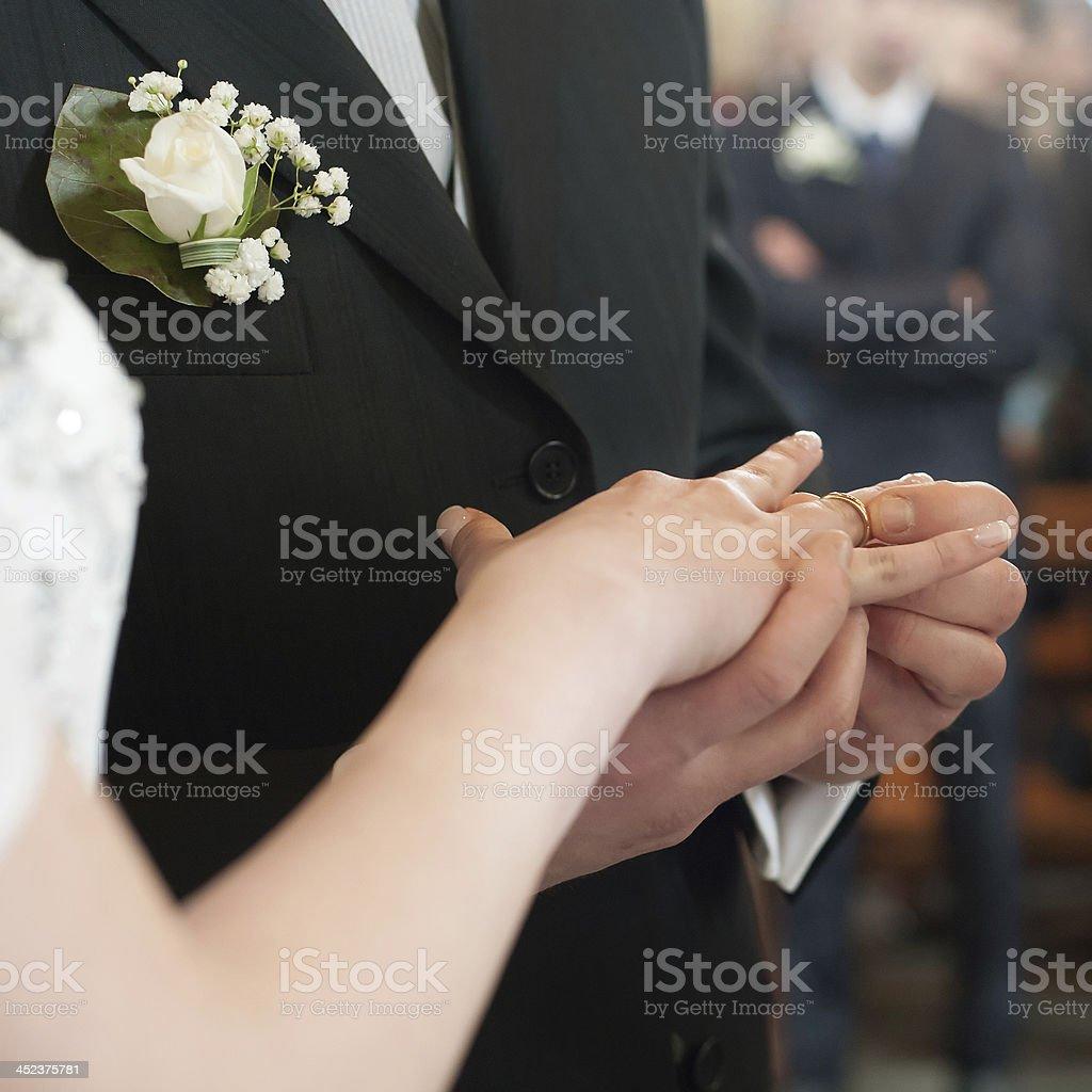 Wedding Ring Ceremony royalty-free stock photo