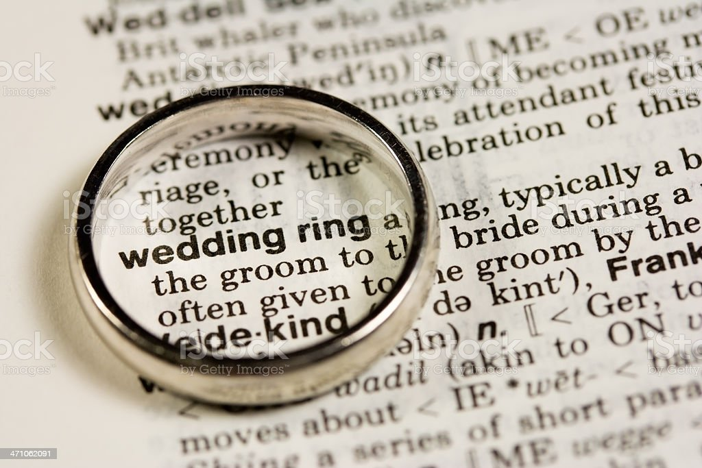 Wedding Ring Defined royalty-free stock photo