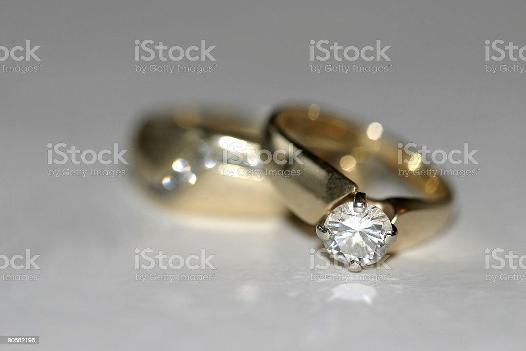 wedding ring set royalty-free stock photo