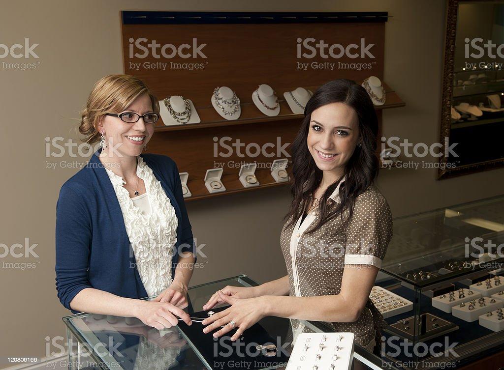 Wedding ring shopping stock photo