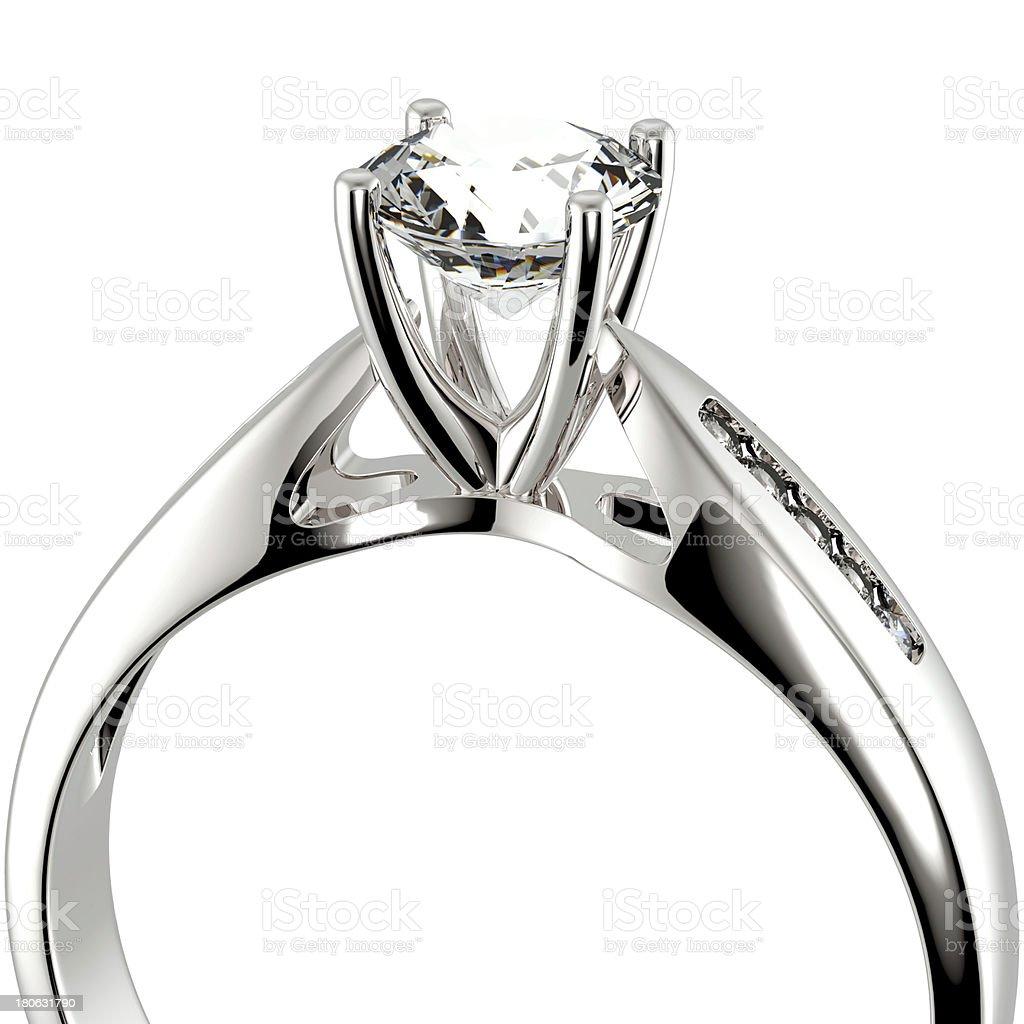 Wedding Ring with diamond royalty-free stock photo