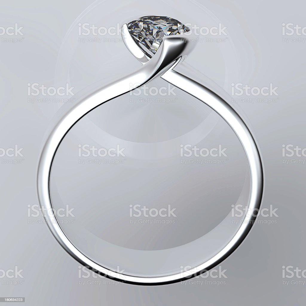 Wedding Ring with diamond royalty-free stock photo