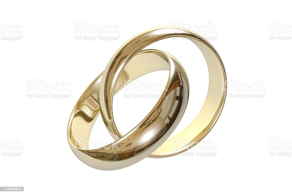 wedding rings 3D royalty-free stock photo
