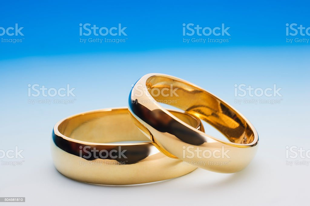 Wedding rings, close up stock photo