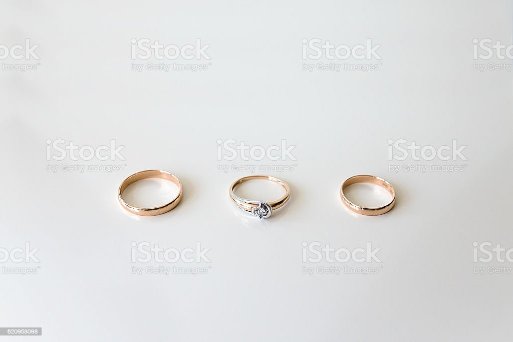 Wedding rings luxary stock photo