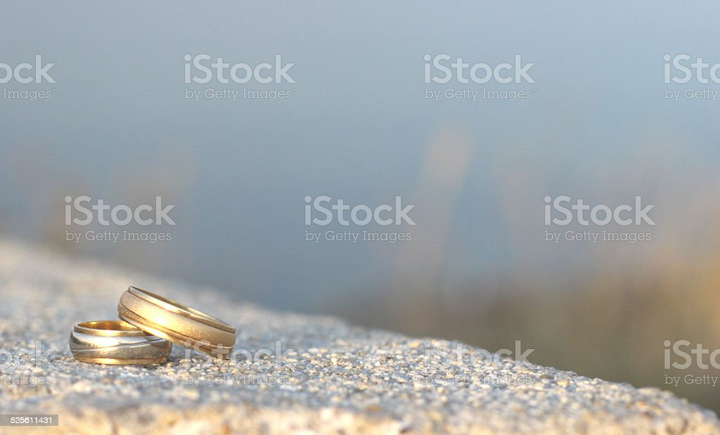 Wedding rings only stock photo