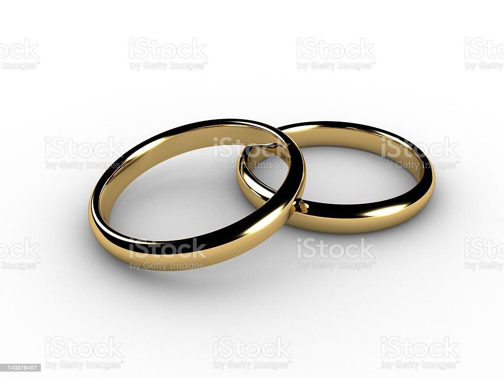 3D wedding rings royalty-free stock photo