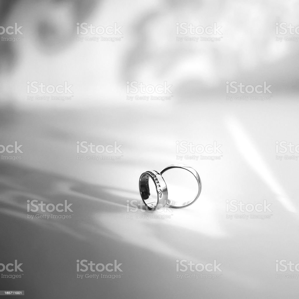 Wedding rings. royalty-free stock photo