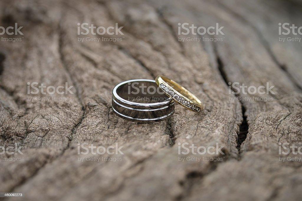 Alianças de casamento foto royalty-free