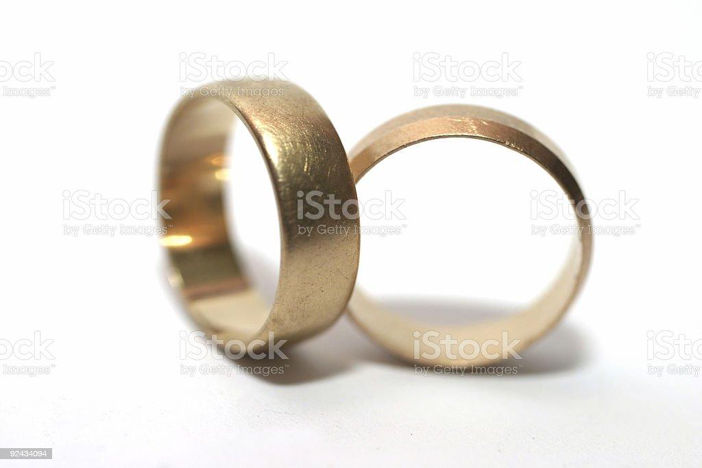 Wedding rings. royalty-free stock photo