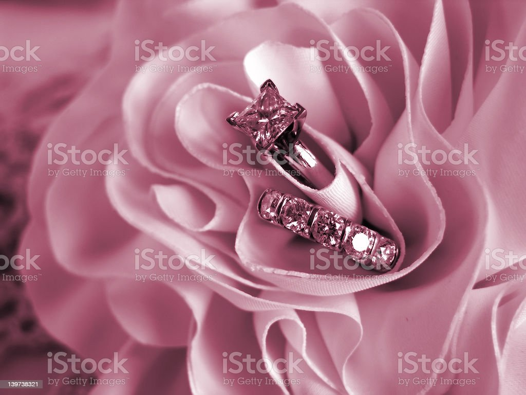 Wedding Rings Soft Mood Pink royalty-free stock photo