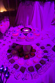 Wedding room, flower and food