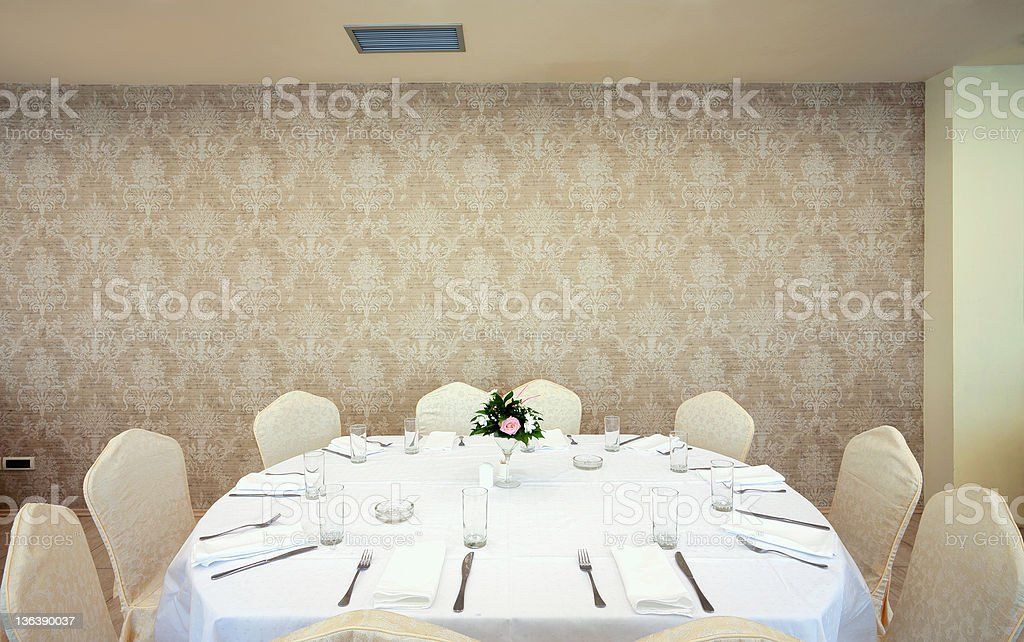 Wedding room royalty-free stock photo