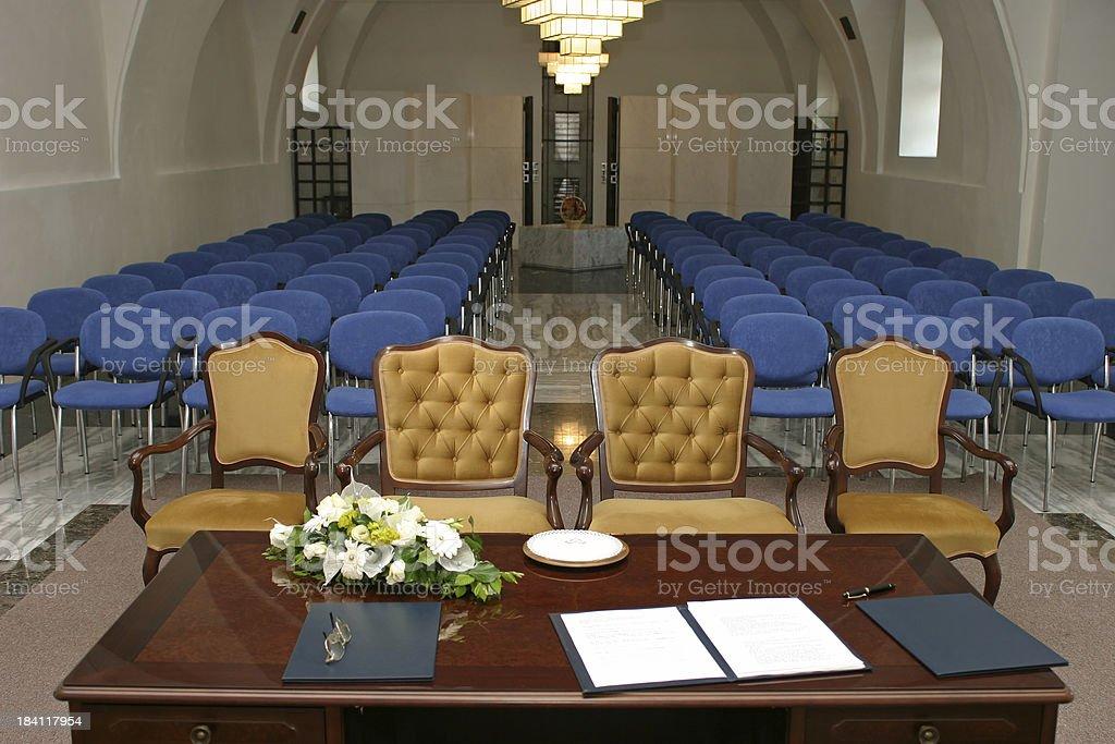 Wedding room royalty-free stock photo