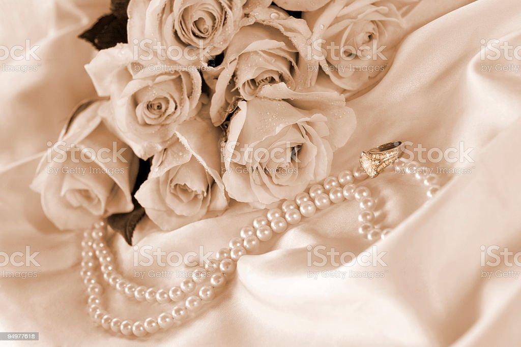 Wedding Roses royalty-free stock photo