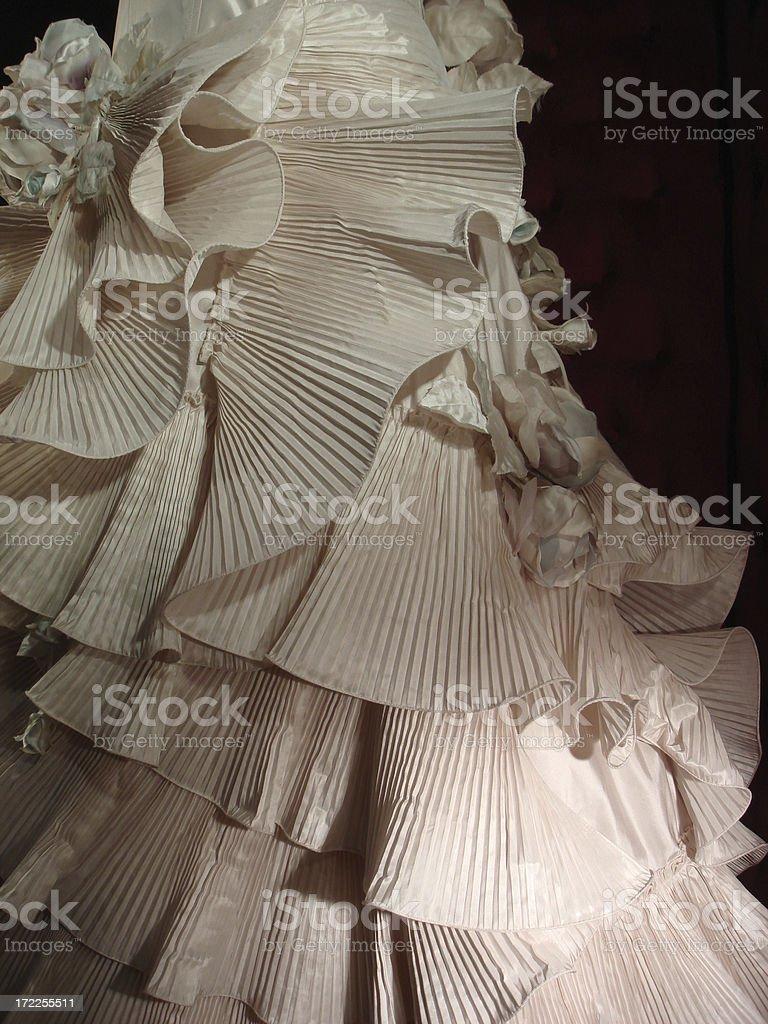 Wedding Ruffles stock photo