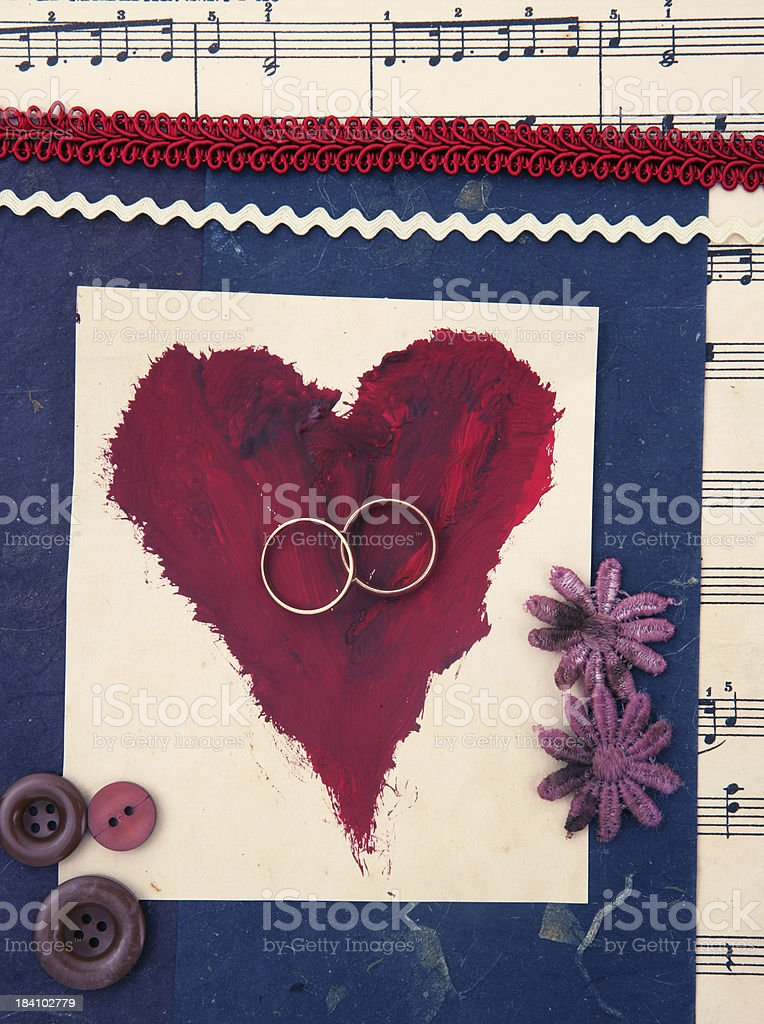 Wedding Scrapbooking royalty-free stock photo