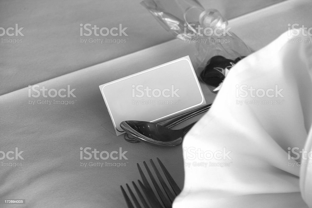 wedding seating card royalty-free stock photo